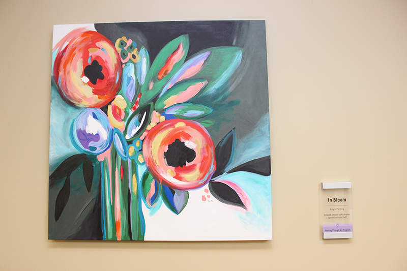 In Bloom, acrylic painting by Karmanos staff